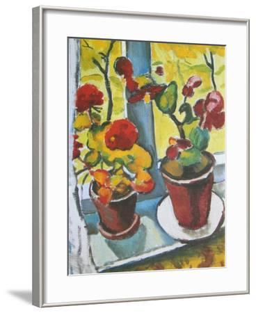 Flowers at the Window, Begonias