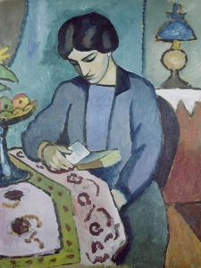 Frau Des Kuenstlers (Studie Zu Einem Portraet), 1912 by Auguste Macke