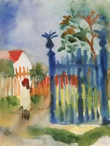 Garden Gate, 1914 by Auguste Macke