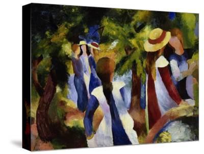 Girls under Trees, 1914