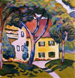 House in a Landscape by Auguste Macke