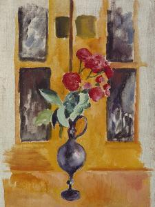 Japanese Roses in a Blue Glass, 1910 by Auguste Macke
