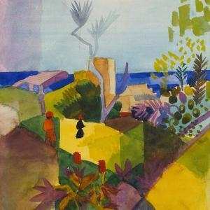 Landscape by the Sea (Landschaft Am Meer), 1914 by Auguste Macke