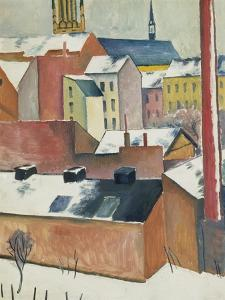 Marienkirche Im Schnee, 1911 by Auguste Macke