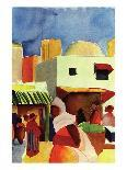 Woman with Parasol in Front of a Hat Shop, 1914-Auguste Macke-Giclee Print
