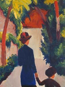 Mother and Child in the Park by Auguste Macke