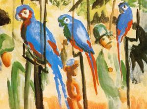 Parrots by Auguste Macke
