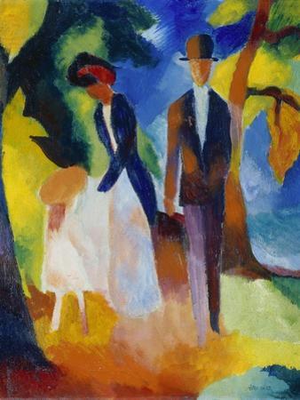 People at the Blue Lake (Leute Am Blauen See), 1913