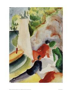 Picnic on the Beach by Auguste Macke