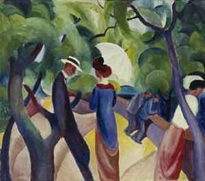Promenade, 1913 by Auguste Macke