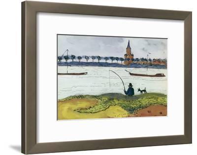 River Landscape with Angler, 1911