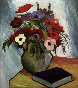 Still life with Anenomes by Auguste Macke