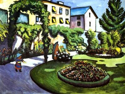 The Artist's Garden in Bonn, Germany, 1911