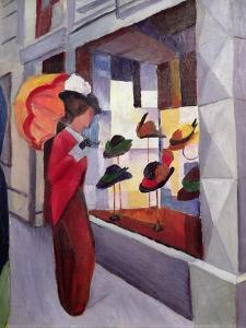 The Hat Shop by Auguste Macke