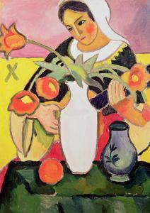 The Lute Player, 1910 by Auguste Macke