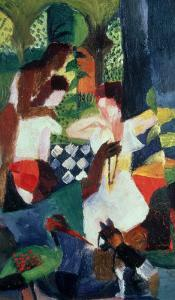 The Turkish Jeweller by Auguste Macke