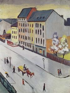 Unsere Strasse in Grau, 1911 by Auguste Macke