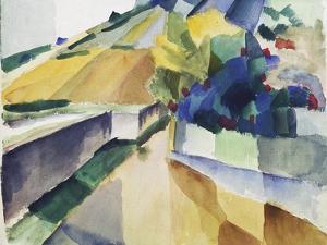 Vineyard at Lake Murten, 1914 by Auguste Macke