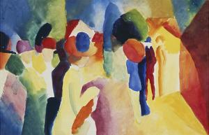With a Yellow Jacket, 1913 by Auguste Macke