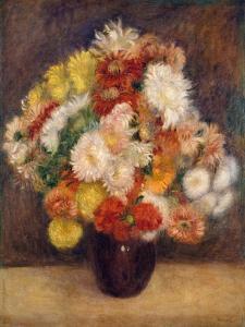 Bouquet of Chrysanthemums by Auguste Renoir
