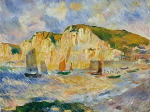 Sea and Cliffs by Auguste Renoir