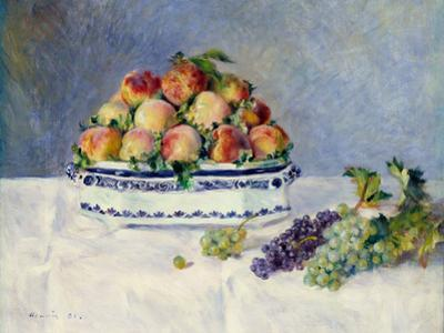 Still Life with Peaches and Grapes by Auguste Renoir