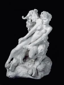 Faun and Nymph, C.1886 (Plaster) by Auguste Rodin