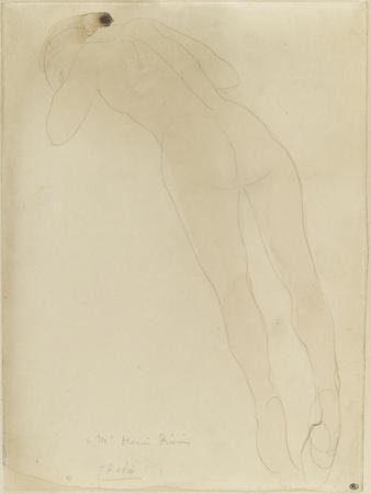 Femme nue, de dos, étendue sur le ventre by Auguste Rodin