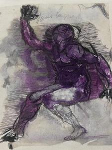 Le Dessins de Auguste Rodin: Plate No.55, 19th Century by Auguste Rodin