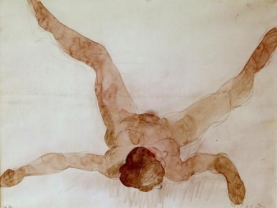 Nude Female Lying on Her Back
