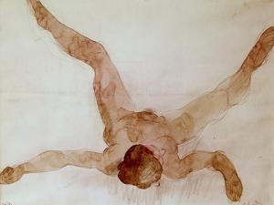 Nude Female Lying on Her Back by Auguste Rodin