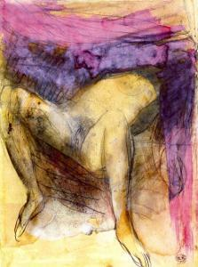 Nude Woman on her Back with Legs Apart by Auguste Rodin