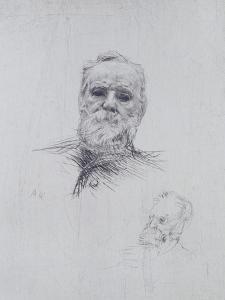 Portrait of Victor Hugo (1802-85) by Auguste Rodin
