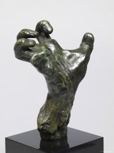 Sculpture of a Hand, Showing a Hand Strained in Tension by Auguste Rodin