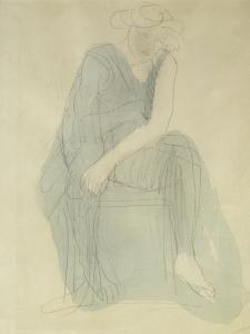 Seated Woman; Femme Assise by Auguste Rodin