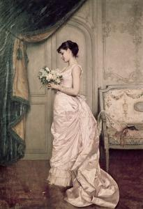 You Are My Valentine, Love Letter with Roses by Auguste Toulmouche