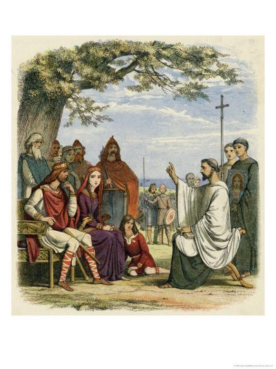 Augustine Preaching Christianity to Ethelbert 1 King of England-James Doyle-Giclee Print