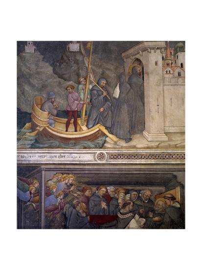 Augustine Returning to Carthage, Saint's Death, Scene from Life of Saint Augustine, 1420-1425-Ottaviano Nelli-Giclee Print