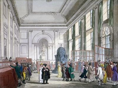 The Great Hall at Bank of England, City of London, 1809