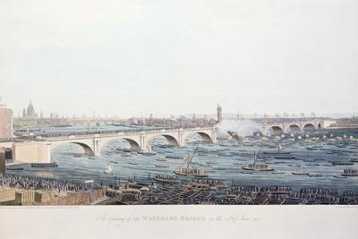The Opening of the Waterloo Bridge on the 18th of June