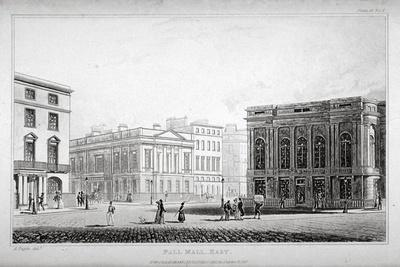 View of Pall Mall East, Westminster, London, 1827