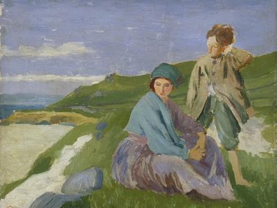 David and Dorelia in Normandy, 1908