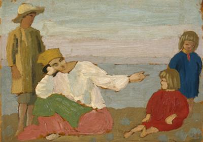 Dorelia and the Children at Martigues, 1910 by Augustus Edwin John