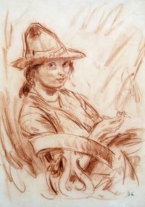 Dorelia Smoking by Augustus Edwin John