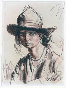 Dorelia Wearing a Hat, C.1924 by Augustus Edwin John