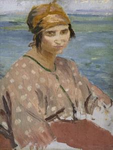 Dorelia Wearing a Turban, C.1912 by Augustus Edwin John