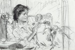Ida and Child by Augustus Edwin John