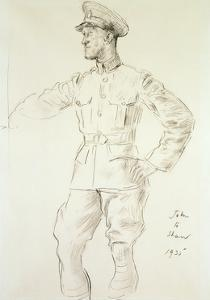 Portrait of Aircraftman T.E. Shaw, 1935 by Augustus Edwin John