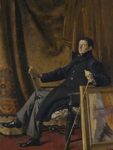 Sir William Nicholson (1872-1949) 1909 by Augustus Edwin John