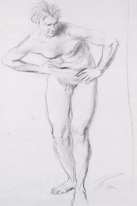 Standing Male Nude by Augustus Edwin John